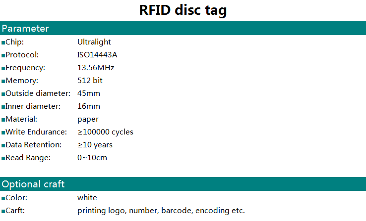 passive tag rfid for jewelry